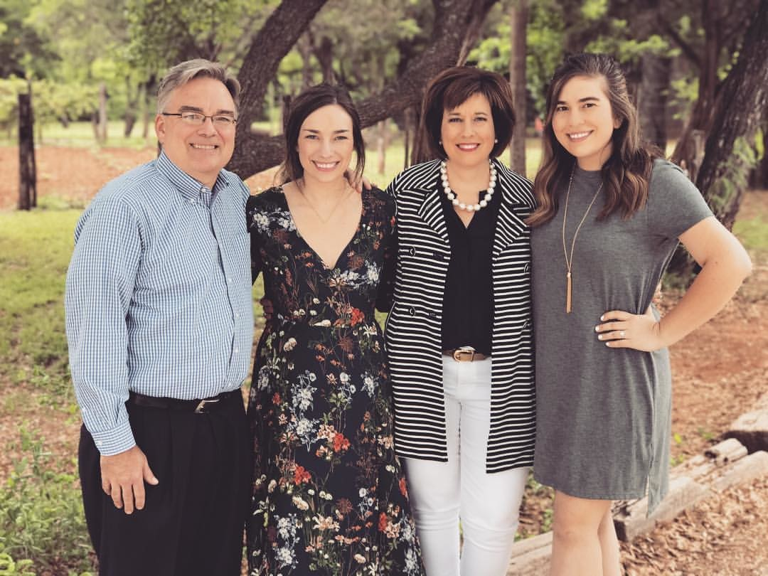 Les Simpson pictured with his wife Denise and their daughters: (left to right): Faith Simpson, Denise Simpson and Meredith Simpson.
