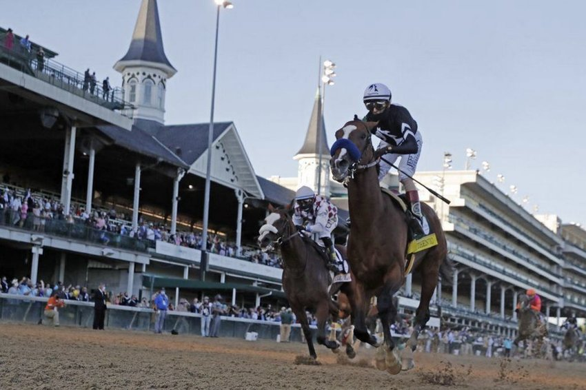 Authentic, owned in part by several Nantucket summer residents, winning the 146th running of the Kentucky Derby in early September.
