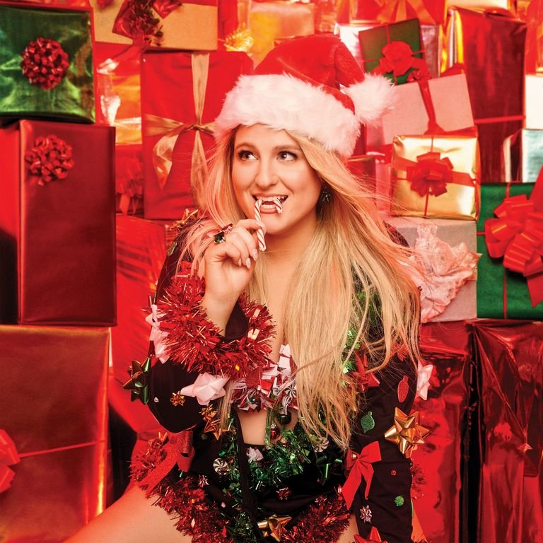 The cover of Meghan Trainor's Christmas album, available on Spotify and iTunes.
