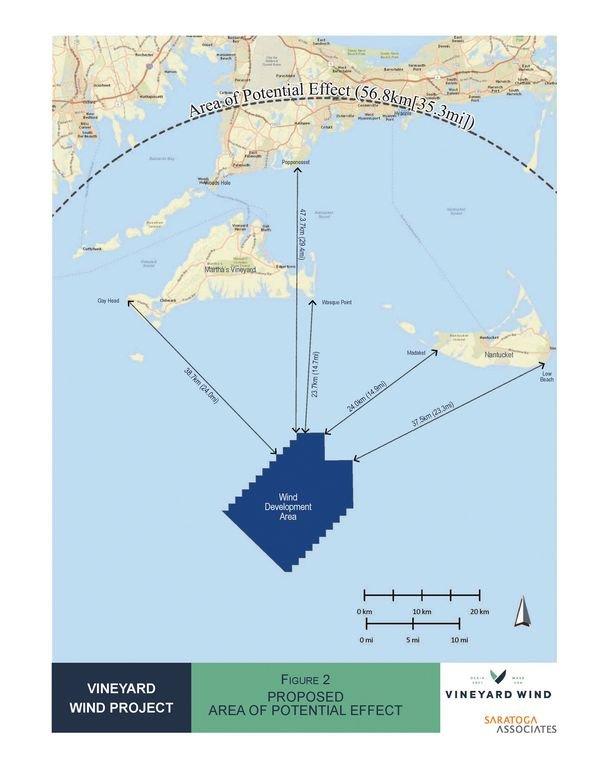 Vineyard Wind's 84 turbines are planned for the Atlantic Ocean 14 miles southwest of Madaket.