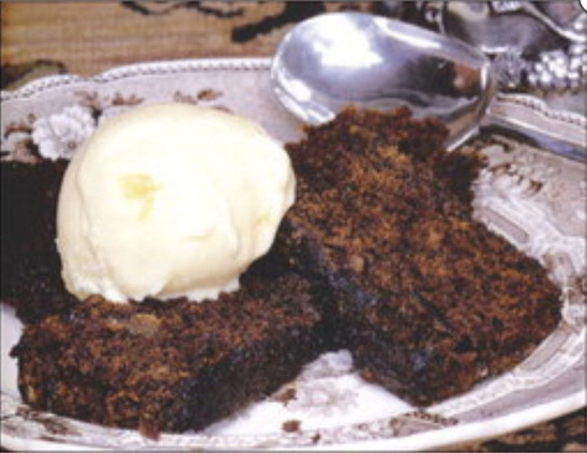 Spirited gingerbread is made even better with a dollop of ginger or rum raisin ice cream, or fresh whipped cream.