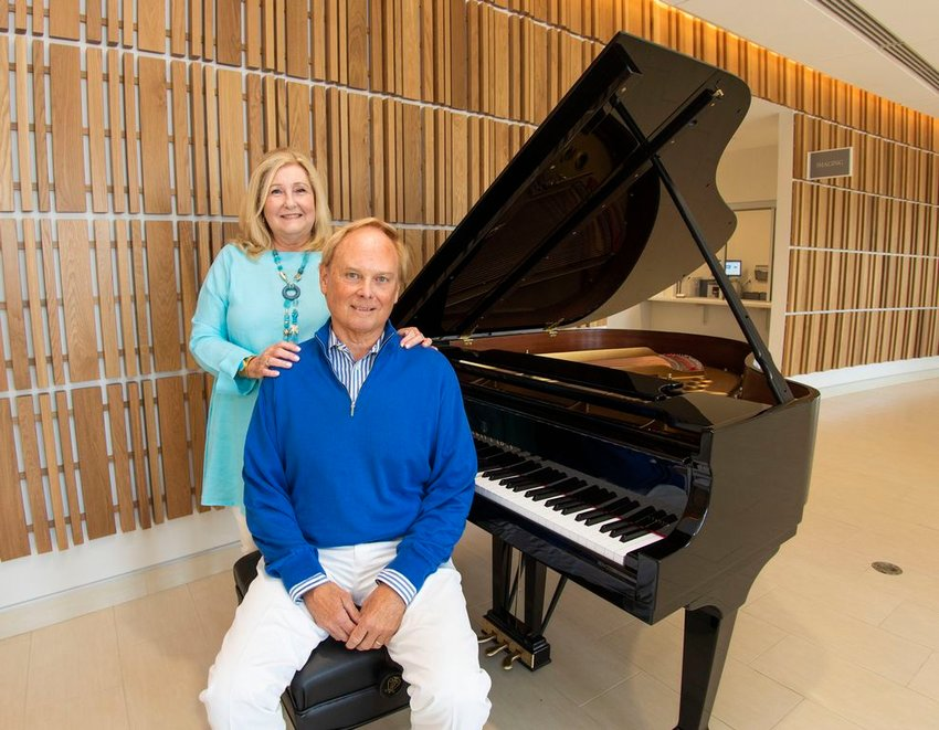 Bruce and Marilou Sanford honored their daughter Ashley, who died in 2017 at 33, with the gift of music to Nantucket Cottage Hospital with this Steinway player piano.
