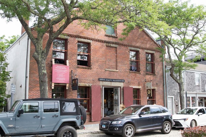 The Macy Warehouse on Straight Wharf is among the buildings whose preservation will need to be addressed amid the larger discussion of ensuring the integrity of Nantucket's historic downtown in response to sea-level rise.