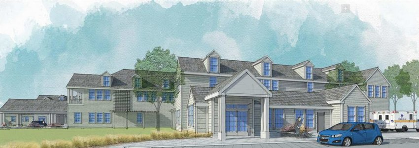 An artist's rendering of the new Nantucket Cottage Hospital