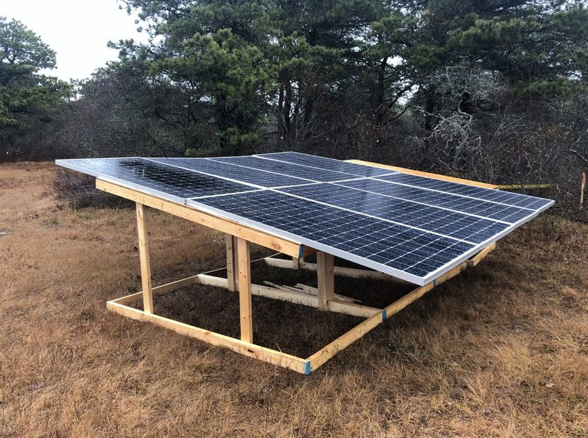 More than 11,000 solar panels like these will be installed on the Wannacomet Water company property between Old South and Milestone roads.