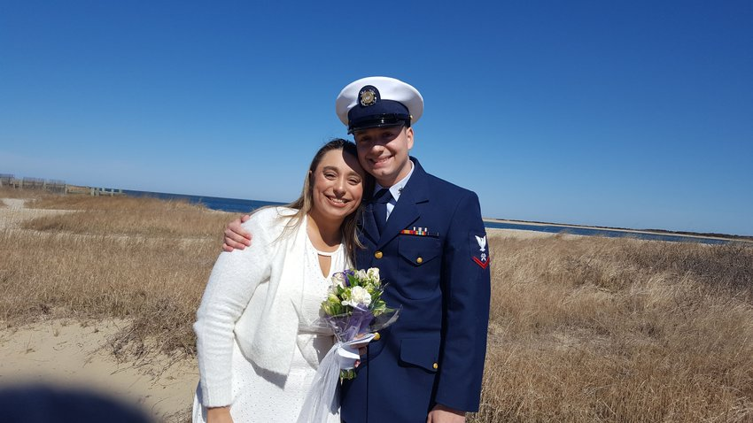 Jon DeJesus and Nina DeJesus on their wedding day.