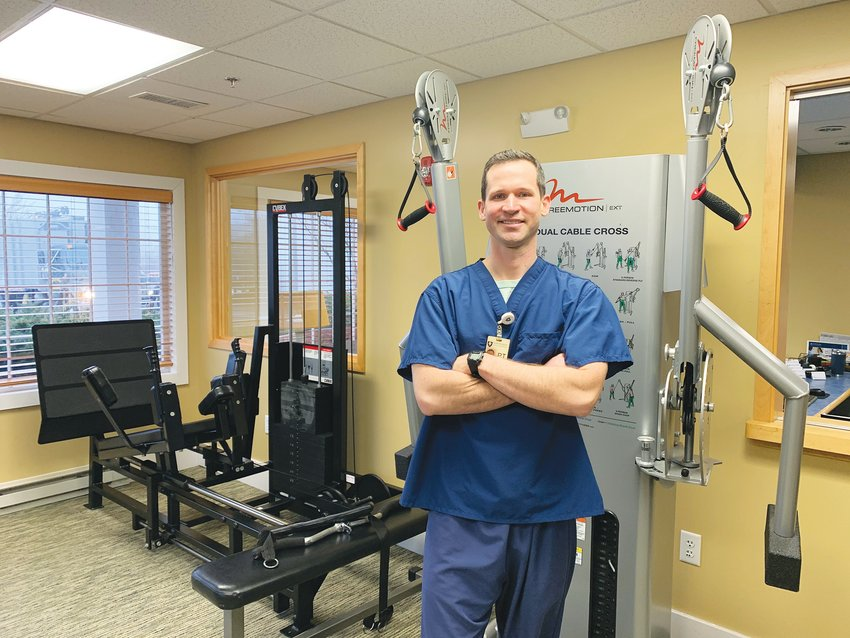 Jameson Heise, senior physical therapist of Sports Medicine and Physical Therapy Associates of Nantucket Cottage Hospital in its Bayberry Court space.