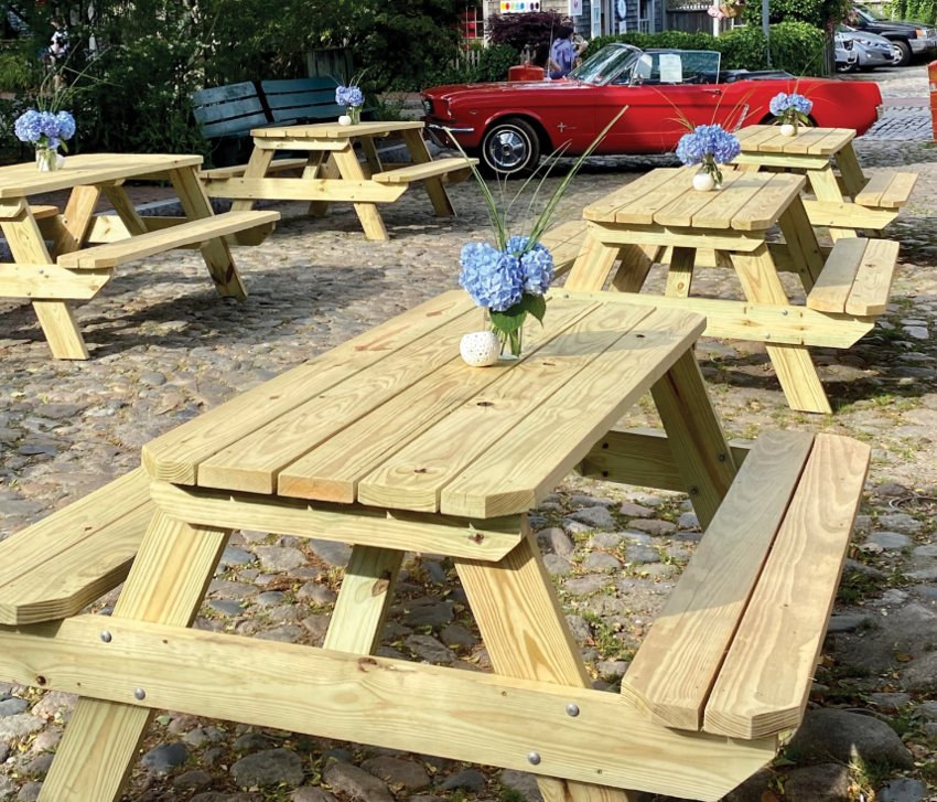 The Club Car's outdoor dining space on Still Dock last summer.