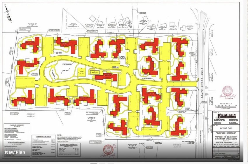Surfside Crossing's proposed 156-unit 40B housing project off South Shore Road.