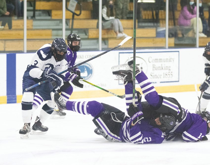 Jack Gammons lays the body on MV players in home loss