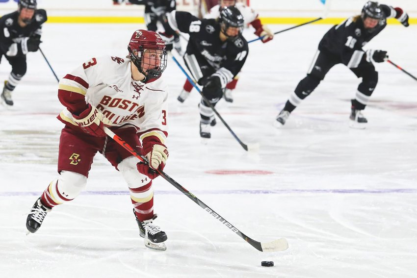 Jillian Fey of Nantucket, now playing for Boston College, in action against the Providence Friars.