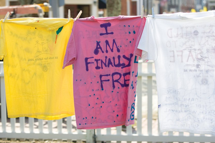 A Safe Place's Clothesline Project, which will be held April 24 at the Atheneum, commemorates victims of domestic violence and sexual assault.
