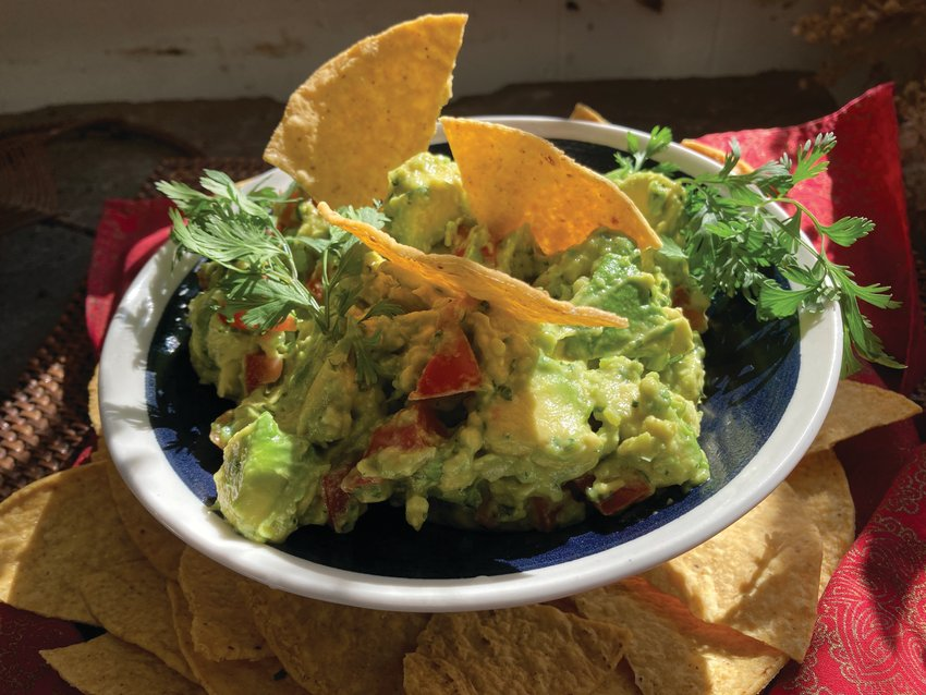 Rosa Mexicano's chunky guacamole can be served as a dip with corn chips, or a topper for fajitas and tacos.