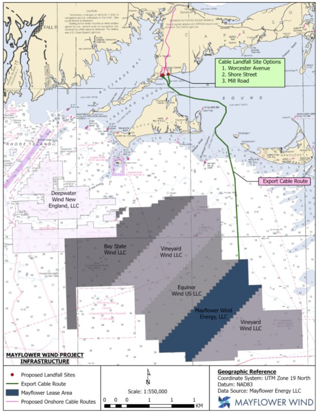 Mayflower Wind's offshore wind farm proposed for 20 miles south of Nantucket.