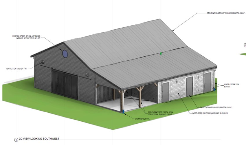 The proposed fieldhouse at the Nobadeer playing fields.