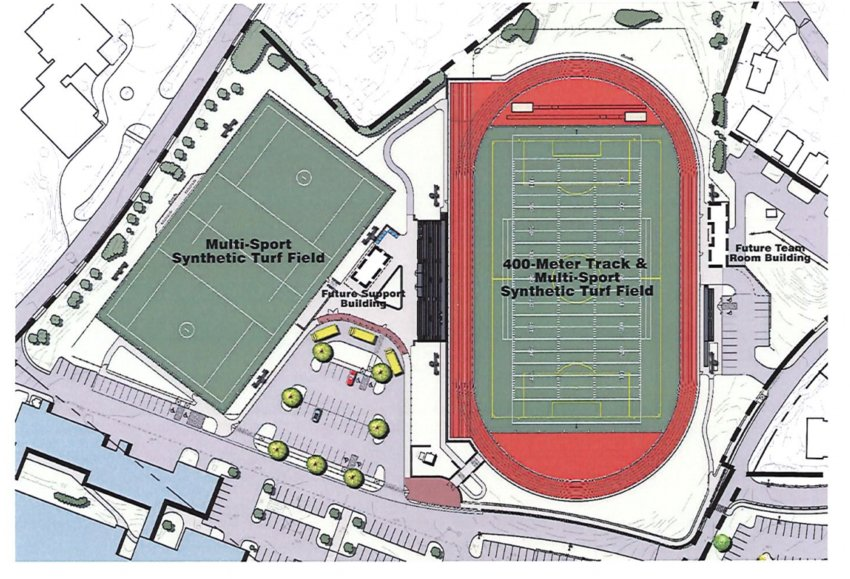 Turf fields will replace grass fields in the new plans to overhaul the Nantucket public schools' athletic fields.