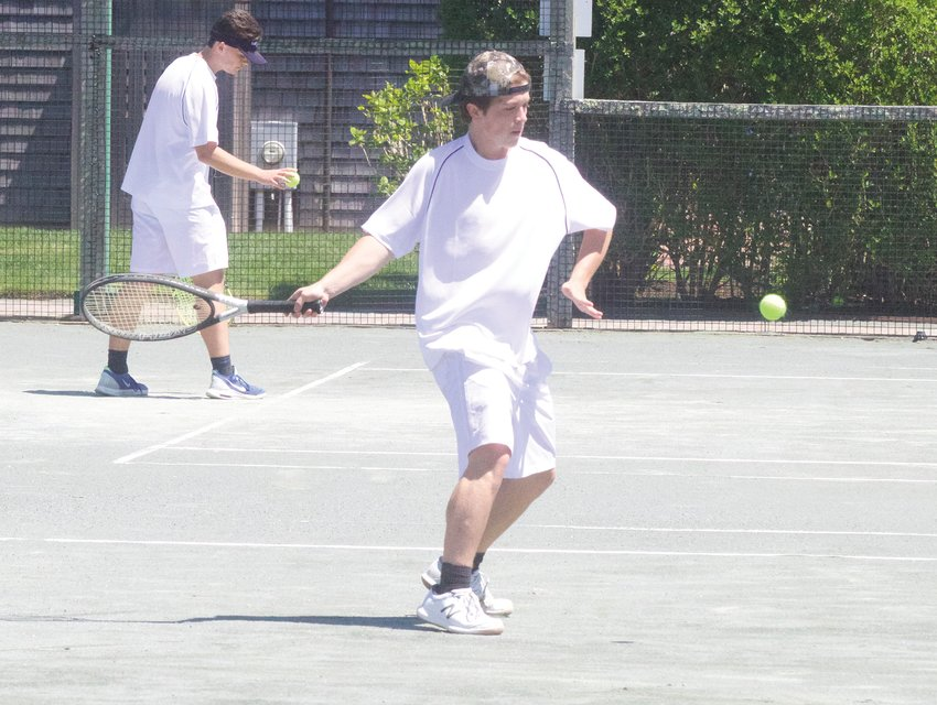 Evan Belanger has been a consistent contributor as the second singles player this season for the Whalers.