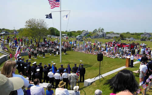 Nantucket will host a Memorial Day observance at noon Sunday at Prospect Hill Cemetery.