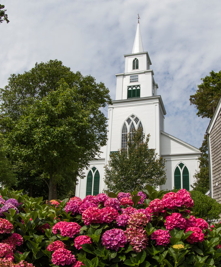 The First Congregational Church opened for in-person service the first time in over a year late last month.