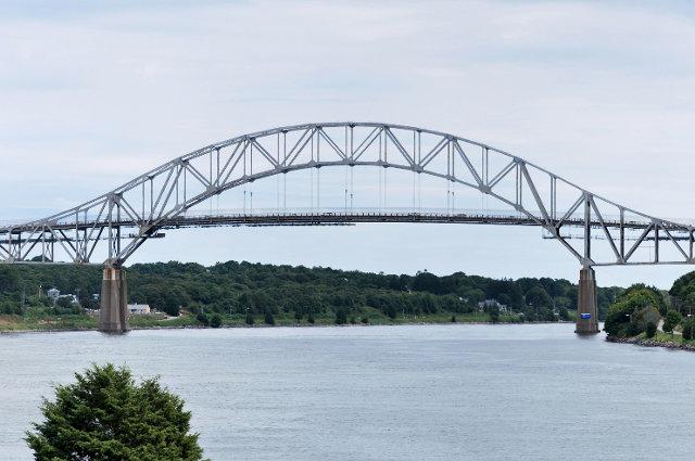The Sagamore Bridge over the Cape Cod Canal.