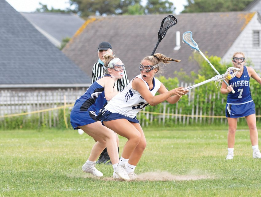 Cydney Mosscrop hits Mashpee player with spin move