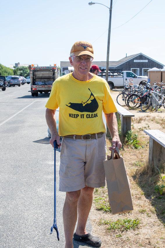 Nantucket Clean Team leader Bill Connell at Surfside Beach.