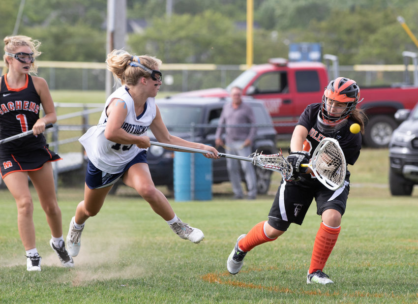 Bailey Lower fires a shot against Middleboro in Monday's Div. 3 South playoff win.