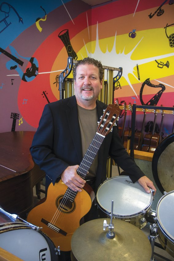 Nantucket High School music teacher Erik Wendelken