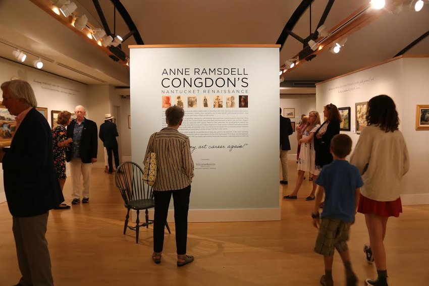 Upstairs in the whaling museum's fine arts gallery are over 40 paintings by early 1900s island artist Anne Ramsdell Congdon.