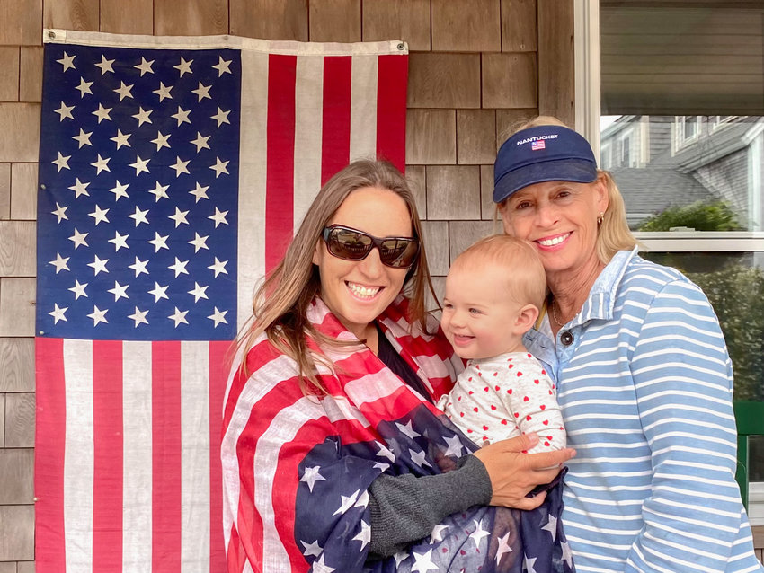 Katie, Millie and Thea Kaizer celebrate the Fourth.