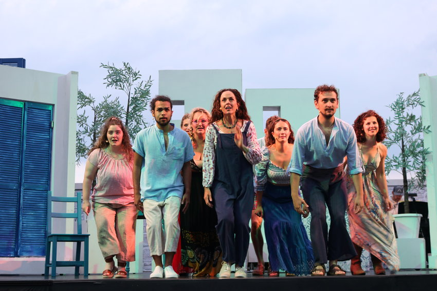 """""""Mamma Mia!"""" opened Wednesday on a stage outside Bartlett's Farm."""