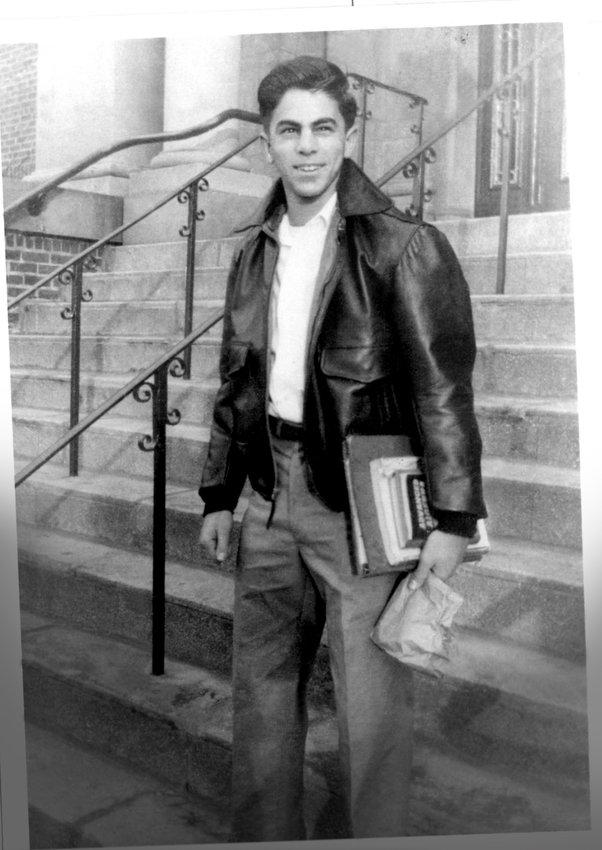 Ed Hajim as a high-school student in 1953.