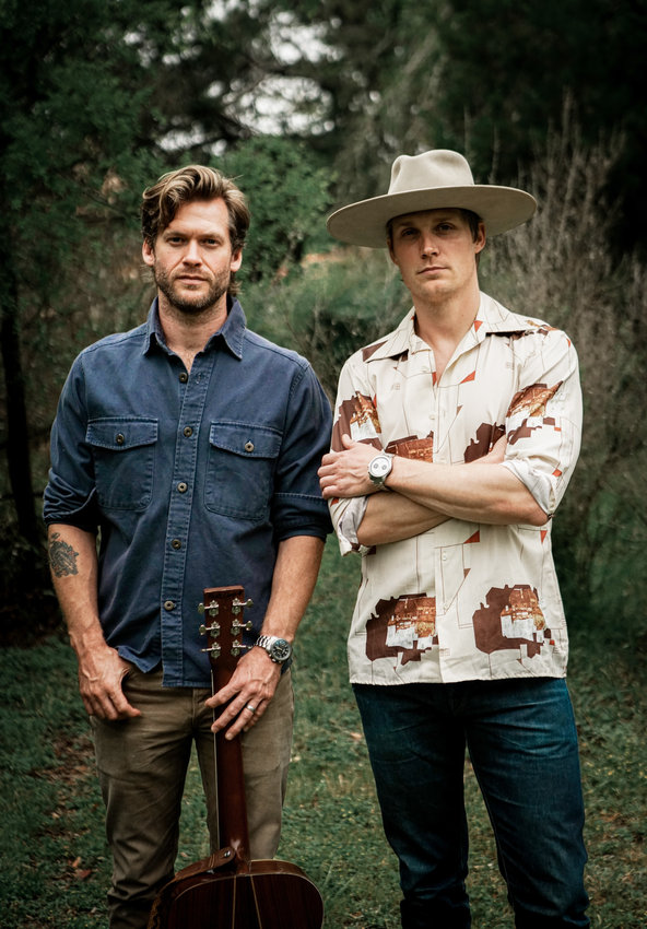 Zach Chance and Jonathan Clay of Magnolia, Texas-based Jamestown Revival. The band has carved out a following in the Southwest and on the West Coast.