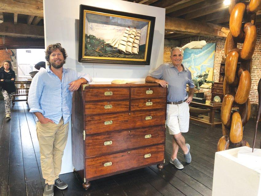 Artist Marcus Foley, left, and antiques dealer John Sylvia.