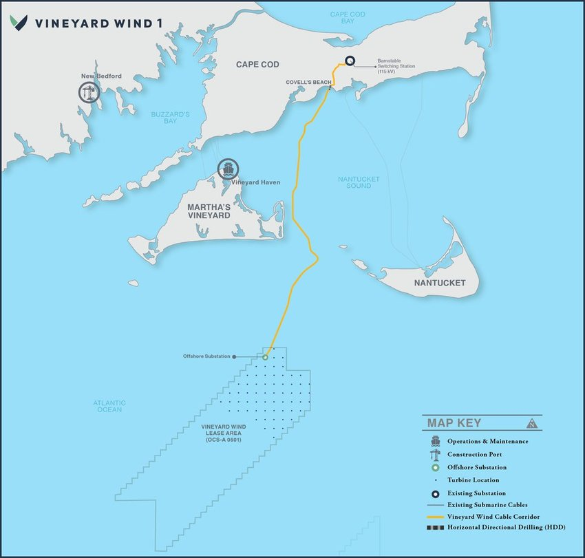 Vineyard Wind this week secured financing for its offshore energy project 15 miles southwest of Nantucket.