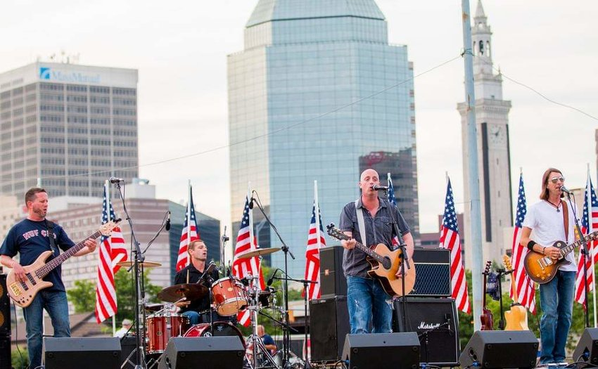 Maxxtone playing a Fourth of July show in Springfield.