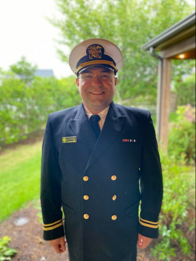 Nantucket Health Director Roberto Santamaria has been commissioned as a lieutenant junior grade in the U.S. Public Health Service Commissioned Corps.