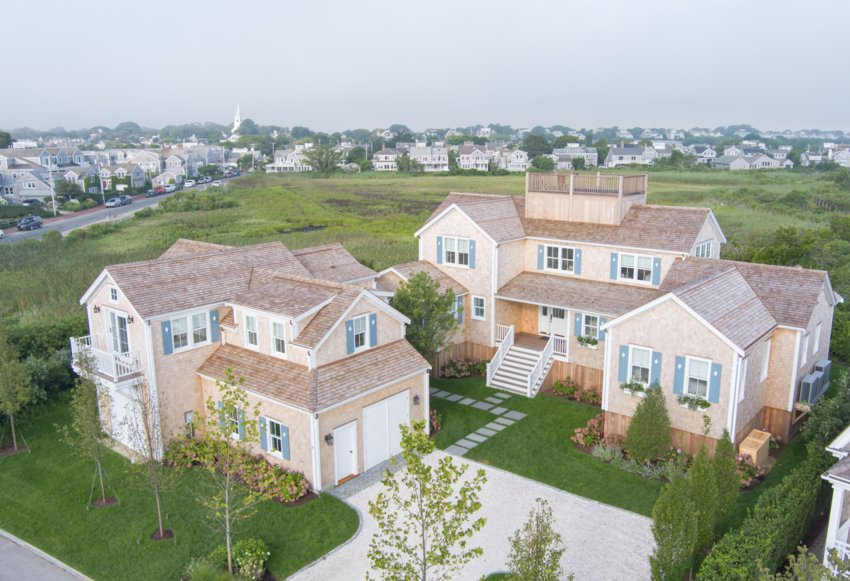 Located on just under three-quarters of an acre in the heart of Brant Point, this Hulbert Avenue property has been beautifully reimagined, and is conveniently situated within minutes of the beach, and just a short walk or bike ride from historic downtown Nantucket.