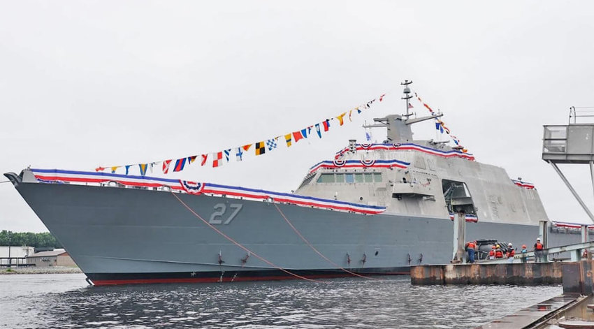 The USS Nantucket at its commissioning ceremony last month in Wisconsin.