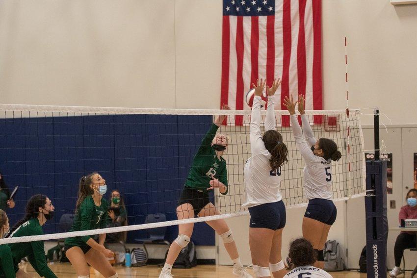 The Nantucket volleyball team fell 3-0 to Barnstable Thursday.