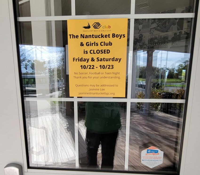 The Nantucket Boys & Girls Club is closed Friday and Saturday due to two staff members testing positive for COVID-19.
