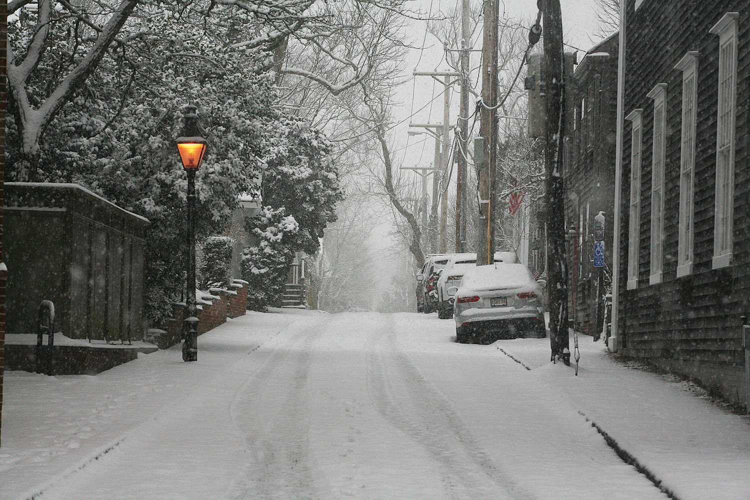 Liberty Street during Thursday's snow.