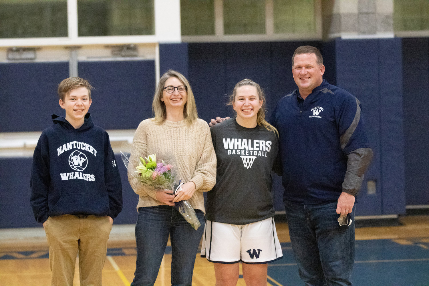 Sydney King and her family on senior night
