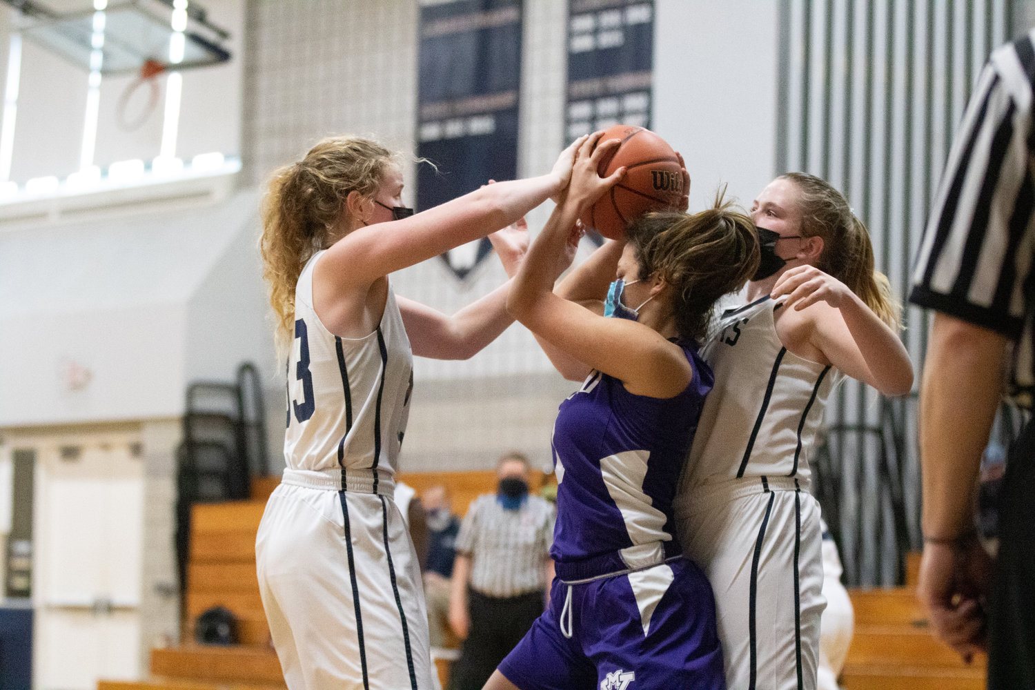 Lady Whalers play defense against MV