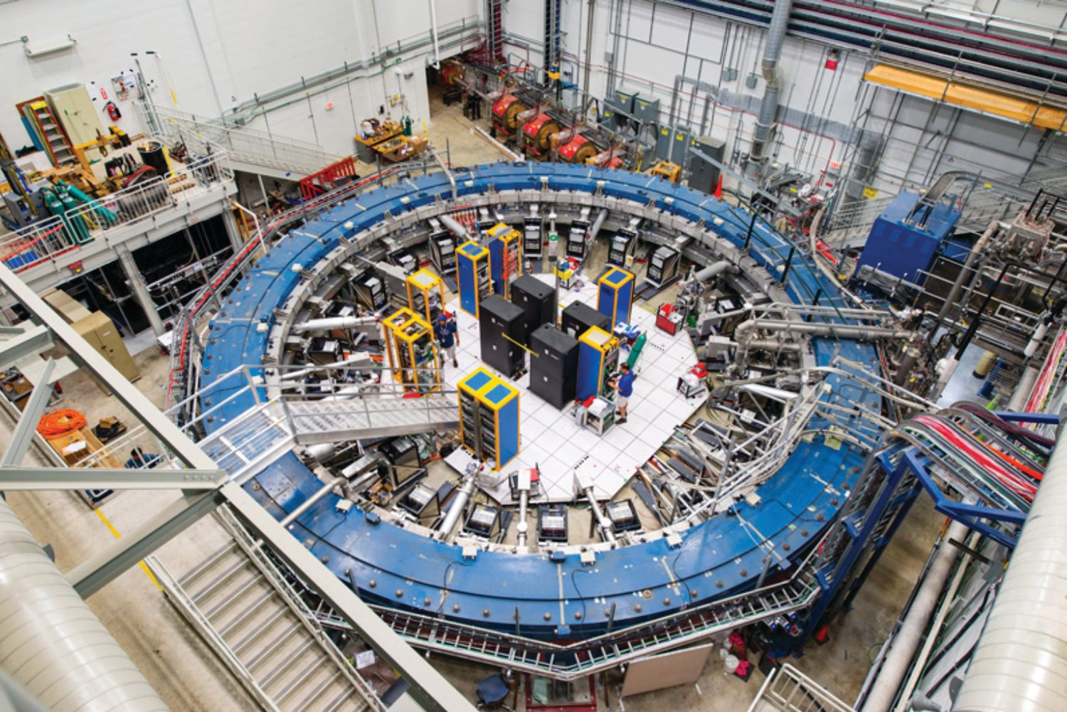 The 50-foot in diameter superconducting magnetic ring at the Fermi National Accelerator Laboratory near Chicago was the centerpiece of a recent experiment with muons, tiny particles that could inform our understanding of the universe.