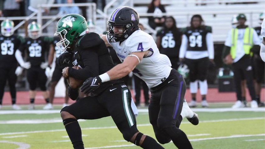 Coleton Smith goes in for the tackle.