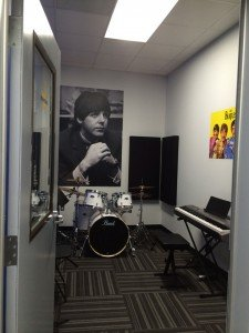 The Beatles room is one of the instruction studios.