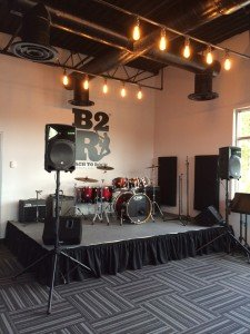 Bach2Rock has a party room/performance space.