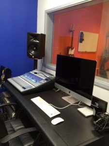 In house studio space allows musicians to record their work and students to learn producing.