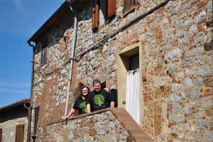 Meyers of Cook In Tuscany while on tour in Tuscany, Italy.
